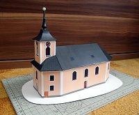 Papercraft building imprimible y armable de la Iglesia de San Martín en Jamy. Manualidades a Raudales.