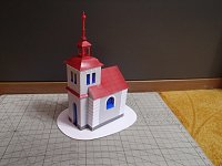 Papercraft imprimible y armable de la Capilla de Polnicka. Manuales a Raudales.