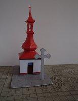 Papercraft building imprimible y armable de la Capilla de Rosicka, en la República Checa. Manualidades a Raudales.