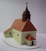 Papercraft imprimible y armable de la Iglesia de Santiago el Mayor en Jakubov. Manualidaes a Raudales.