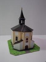 Papercraft building imprimible y armable de la capilla de Santa Barbara. Manualidades a Raudales.