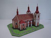 Papercraft building imprimible y armable de la Iglesia Parroquial de Bartolomé / Farní kostel sv. Bartoloměje v Rozsochách. Manualidades a Raudales.