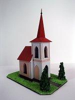Papercraft building recortable y armable de la Capilla de San Pedro y San Pablo / Kaple sv. Petra a Pavla ve Veselíčku, en la República Checa. Manualidades a Raudales.