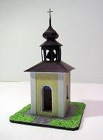 Papercraft building recortable y armable de la Capilla de Nuestra Señora de Lourdes en Bohdalec / Kaple Panny Marie Lurdskév Bohdalci. Manualidades a Raudales.