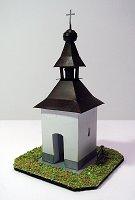 Papercraft building recortable y armable del Campanario de Cirilo / Zvonička na Cyrilově, en la República Checa. Manualidades a Raudales.