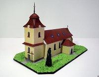 Maqueta 3D recortable y armable de la Capilla de Santa Margaret, en Dolní Bobrové. República Checa. Manualidades a Raudales.