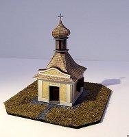 Maqueta 3D recortable y armable de la capilla de San Antonio de Padua, en la República Checa. Manualidades a Raudales.
