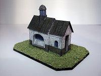 Papercraft building imprimible y armable de la Capilla del Santo Sepulcro en Polná, en República Checa. Manualidaes a Raudales.